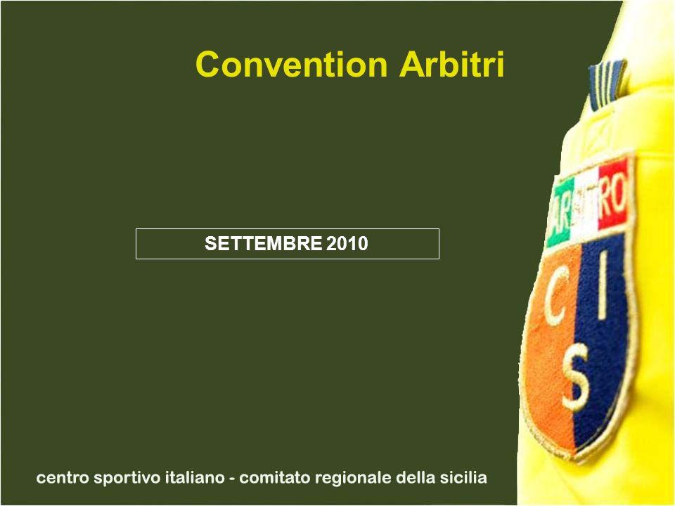 Convention Arbitri SETTEMBRE 2010