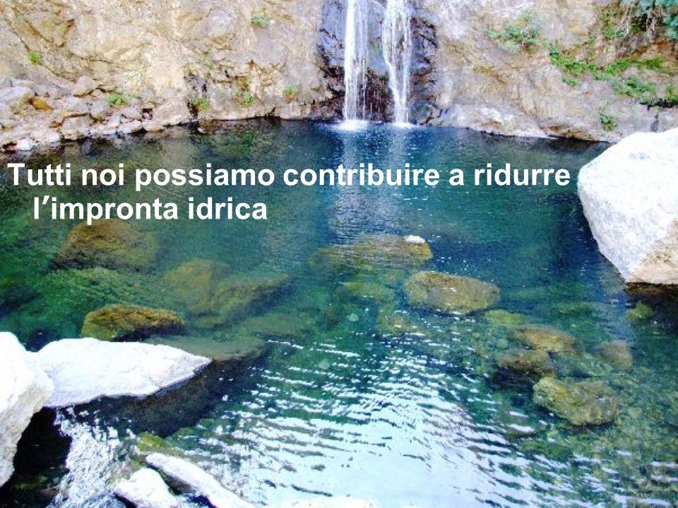 Tutti noi possiamo contribuire a ridurre limpronta idrica