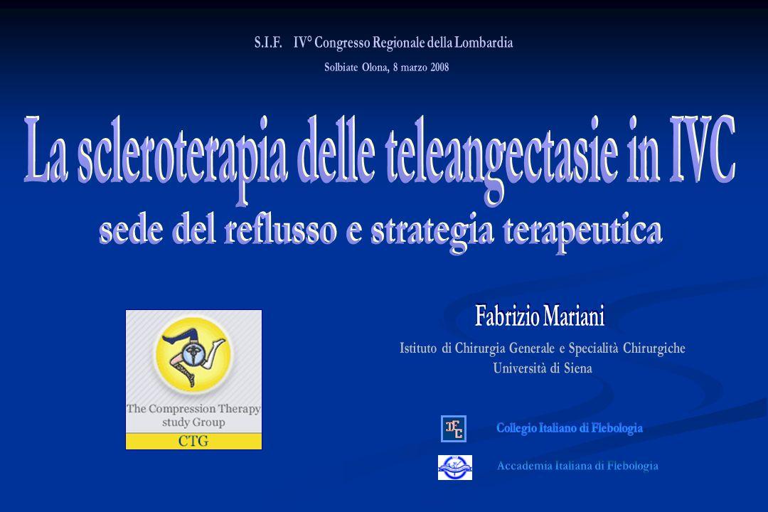 » EDC 10-15 MHz www.terapiacompressiva.it Scleroterapia teleangectasie IVC