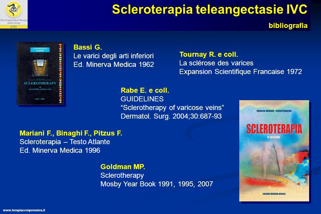 www.terapiacompressiva.it Scleroterapia teleangectasie IVC
