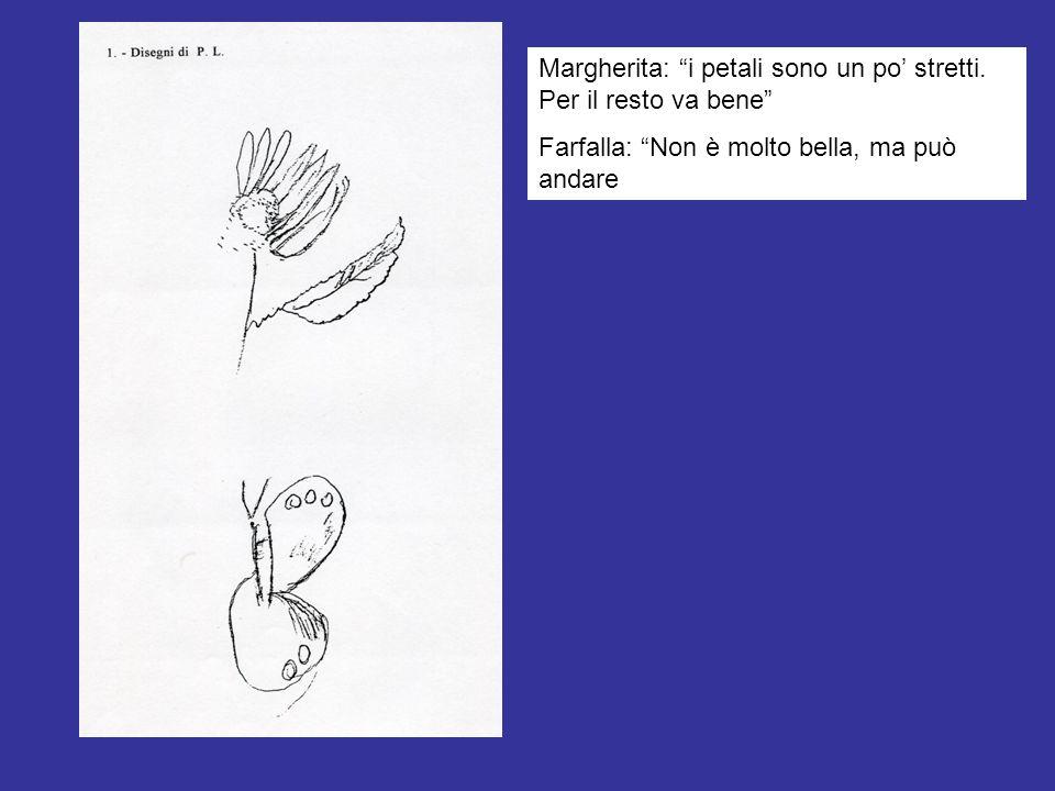 Margherita: i petali sono un po stretti. Per il resto va bene Farfalla: Non è molto bella, ma può andare