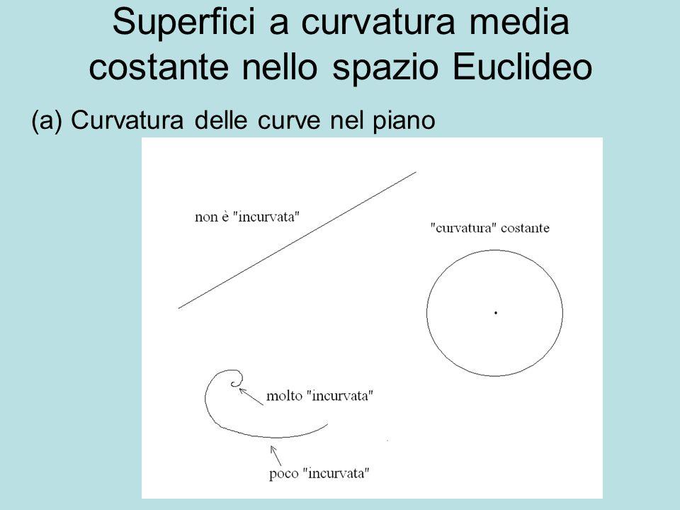 Superfici a curvatura media costante nello spazio Euclideo (a) Curvatura delle curve nel piano