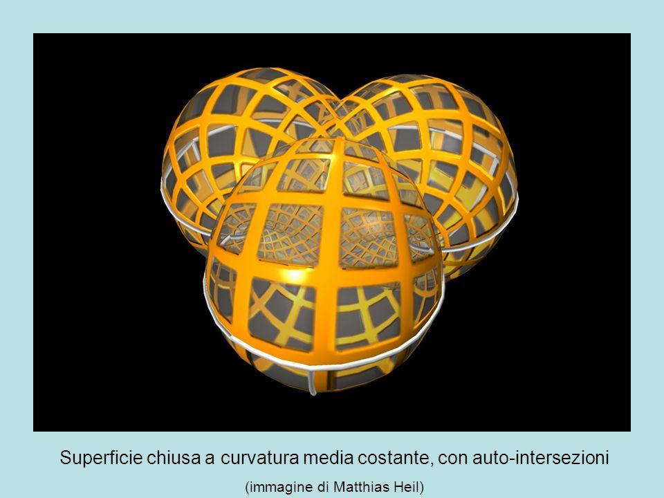Superficie chiusa a curvatura media costante, con auto-intersezioni (immagine di Matthias Heil)