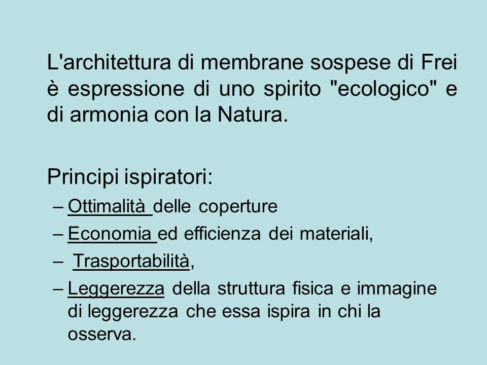 L'architettura di membrane sospese di Frei è espressione di uno spirito