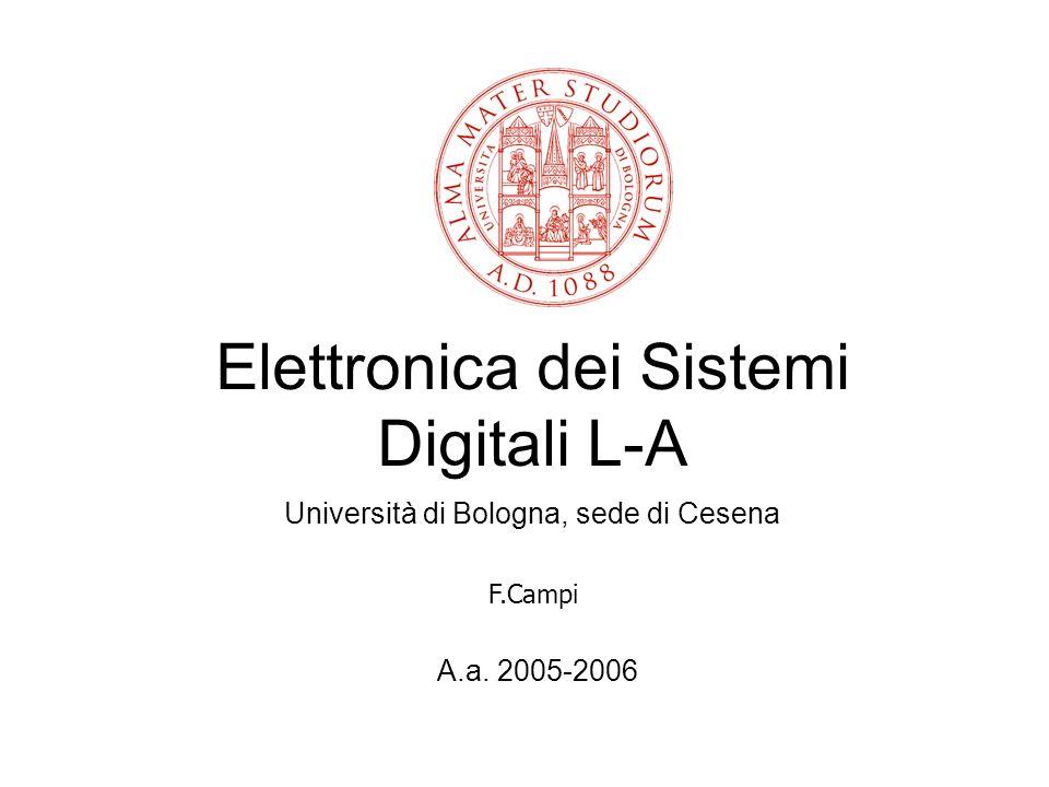 Elettronica dei Sistemi Digitali L-A Università di Bologna, sede di Cesena A.a. 2005-2006 F.Campi