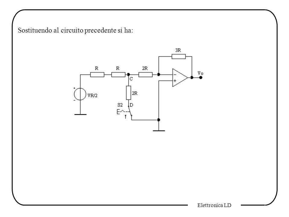 Sostituendo al circuito precedente si ha: Elettronica LD