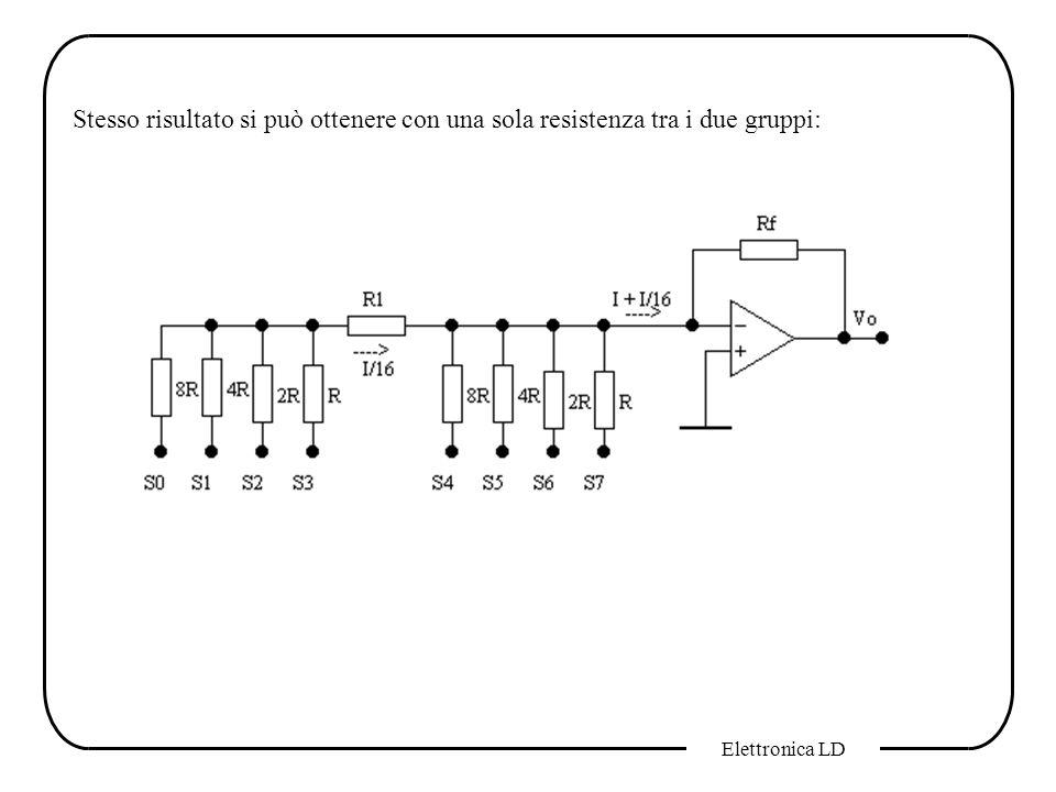 Elettronica LD Stesso risultato si può ottenere con una sola resistenza tra i due gruppi: