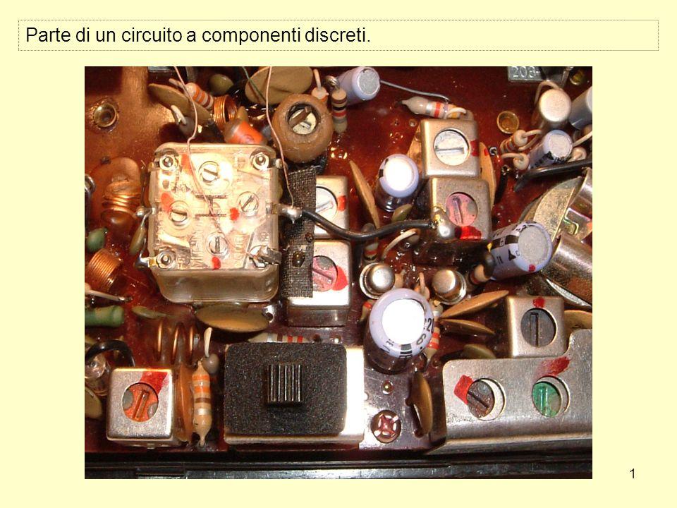 1 Parte di un circuito a componenti discreti.