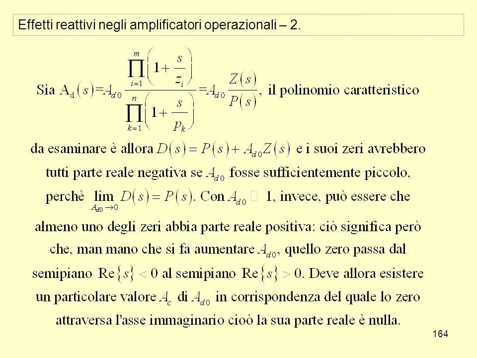 164 Effetti reattivi negli amplificatori operazionali – 2.