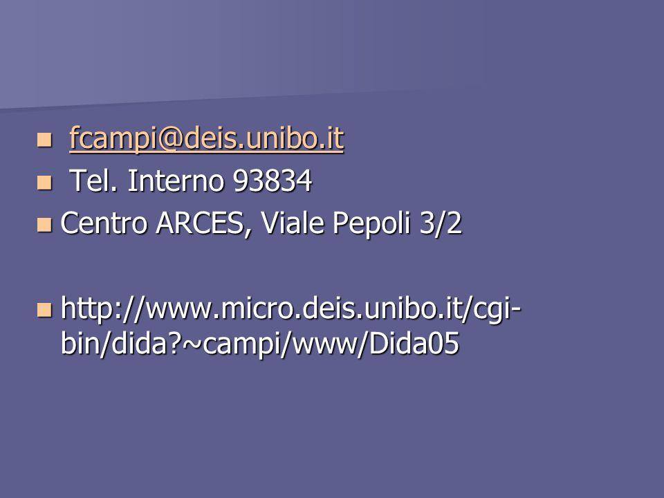 fcampi@deis.unibo.it fcampi@deis.unibo.itfcampi@deis.unibo.it Tel.
