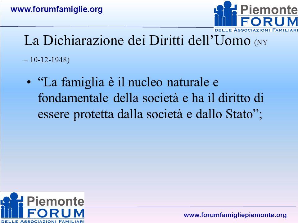 www.forumfamiglie.org www.forumfamigliepiemonte.org Quale famiglia.