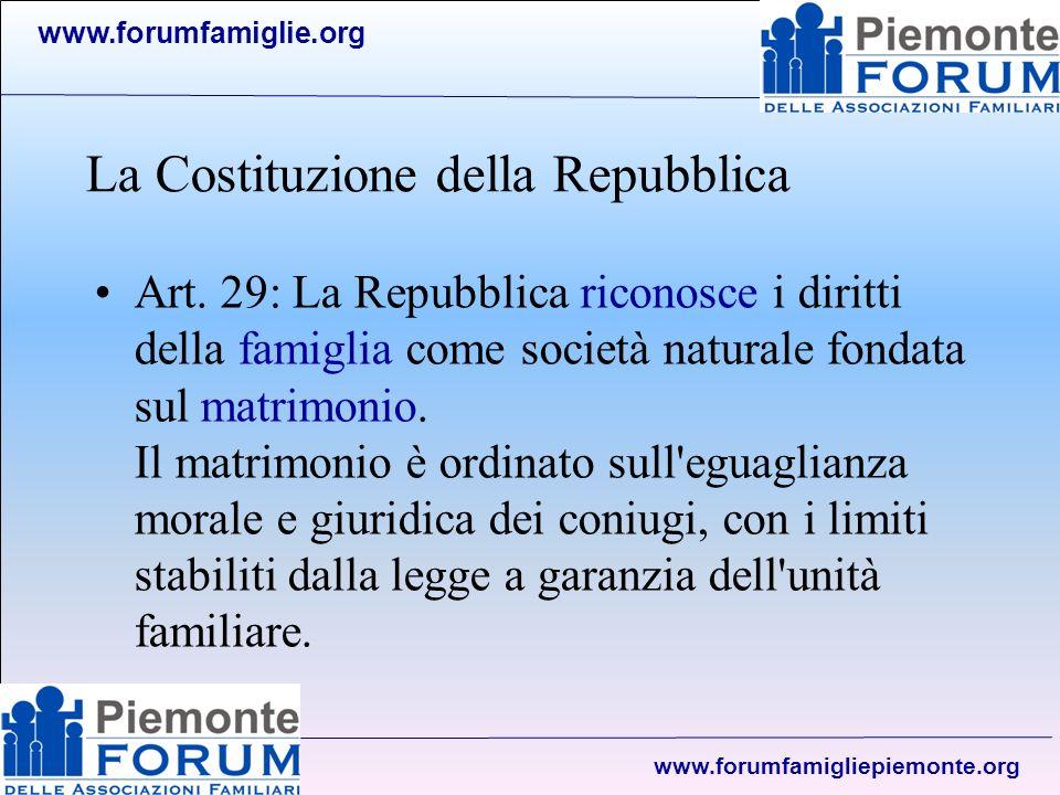 www.forumfamiglie.org www.forumfamigliepiemonte.org Politica familiare Politica di promozione Politica di equità Politica di sussidiarietà E intervenire a sostegno della famiglia, quando da sola non riesce a far fronte ai suoi compiti per metterla in grado di essere pienamente se stessa.