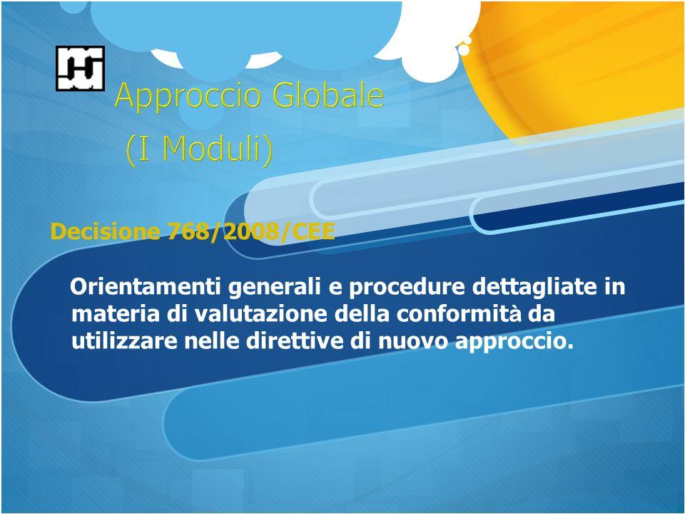 Decisione 768/2008/CEE Orientamenti generali e procedure dettagliate in materia di valutazione della conformit à da utilizzare nelle direttive di nuovo approccio.