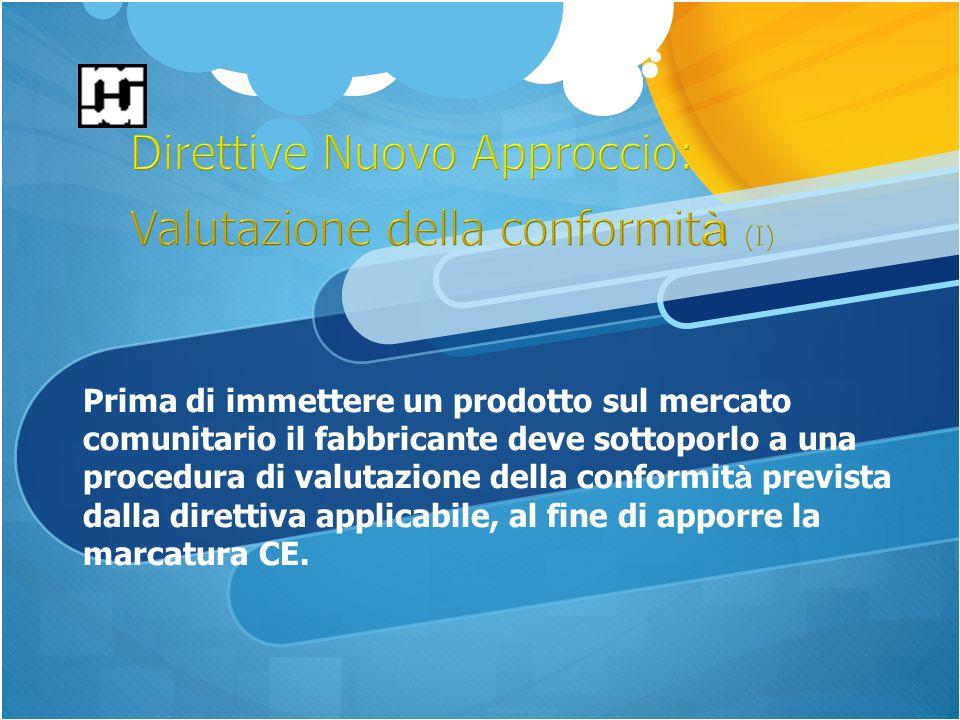 Prima di immettere un prodotto sul mercato comunitario il fabbricante deve sottoporlo a una procedura di valutazione della conformit à prevista dalla direttiva applicabile, al fine di apporre la marcatura CE.