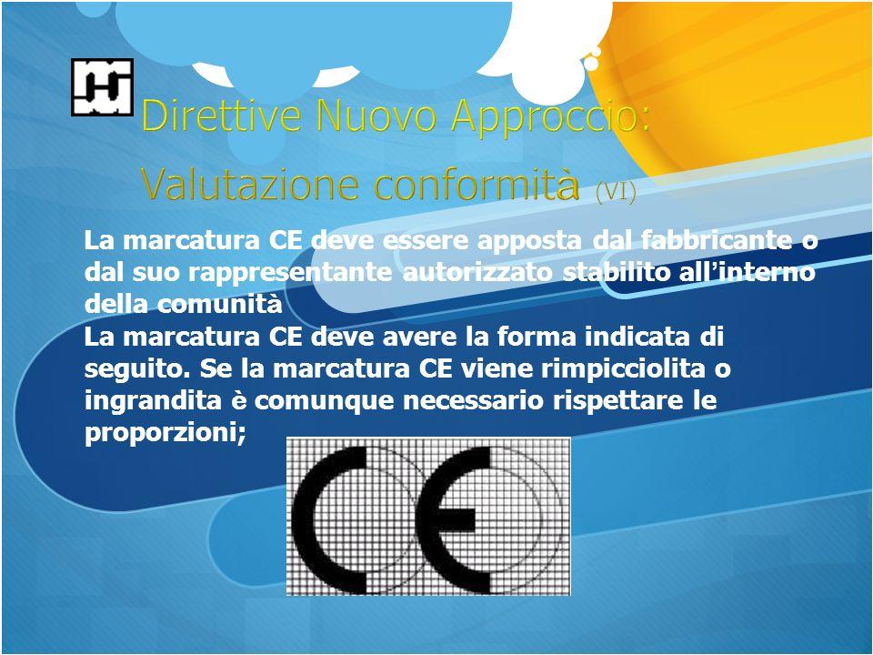 La marcatura CE deve essere apposta dal fabbricante o dal suo rappresentante autorizzato stabilito all interno della comunit à La marcatura CE deve avere la forma indicata di seguito.