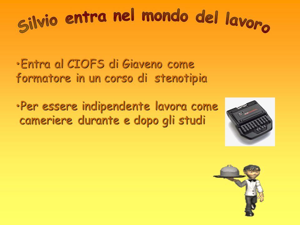 Entra al CIOFS di Giaveno come formatore in un corso di stenotipiaEntra al CIOFS di Giaveno come formatore in un corso di stenotipia Per essere indipe