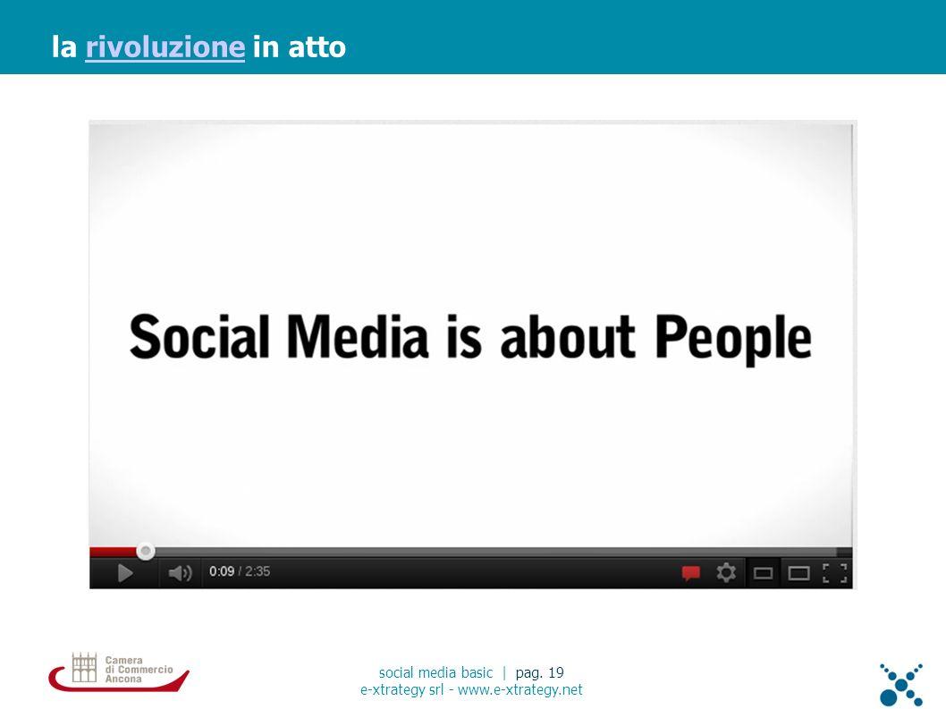 la rivoluzione in attorivoluzione social media basic | pag. 19 e-xtrategy srl - www.e-xtrategy.net