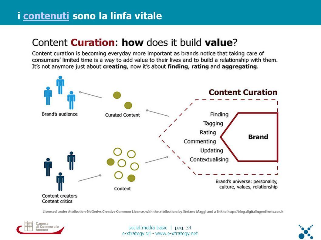i contenuti sono la linfa vitalecontenuti social media basic | pag. 34 e-xtrategy srl - www.e-xtrategy.net