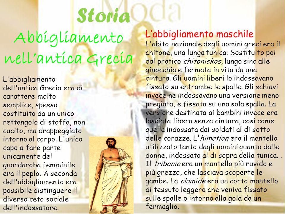Abbigliamento nellantica Grecia Labbigliamento maschile L'abito nazionale degli uomini greci era il chitone, una lunga tunica. Sostituito poi dal prat