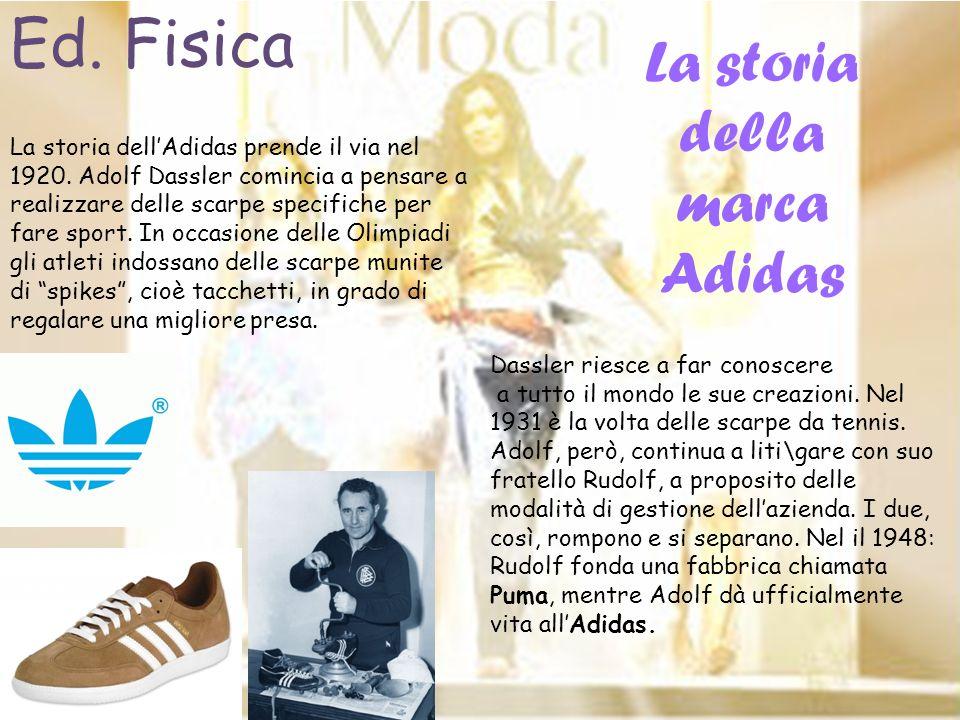 La storia dellAdidas prende il via nel 1920. Adolf Dassler comincia a pensare a realizzare delle scarpe specifiche per fare sport. In occasione delle