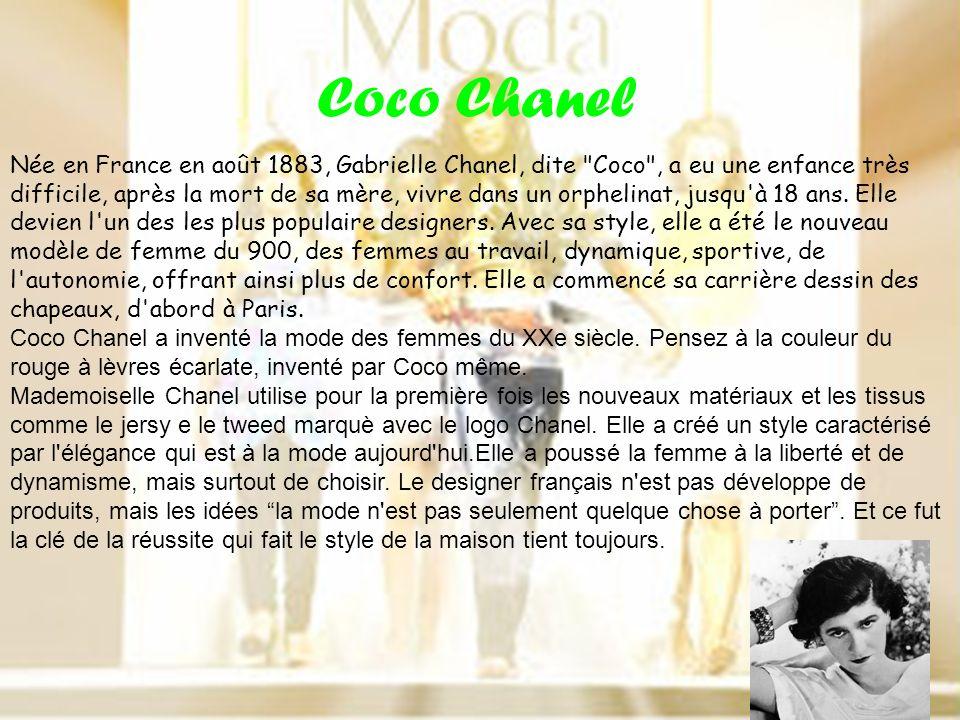 Née en France en août 1883, Gabrielle Chanel, dite