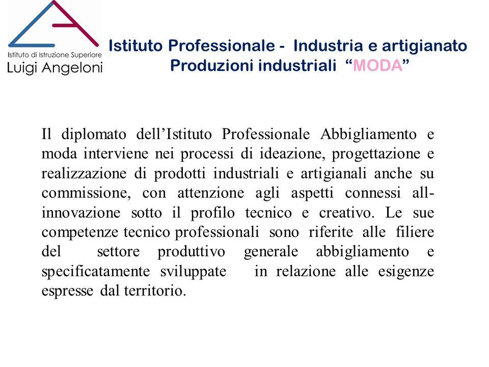 Istituto Professionale - Industria e artigianato Produzioni industriali MODA Istituto Professionale - Industria e artigianato Produzioni industriali M
