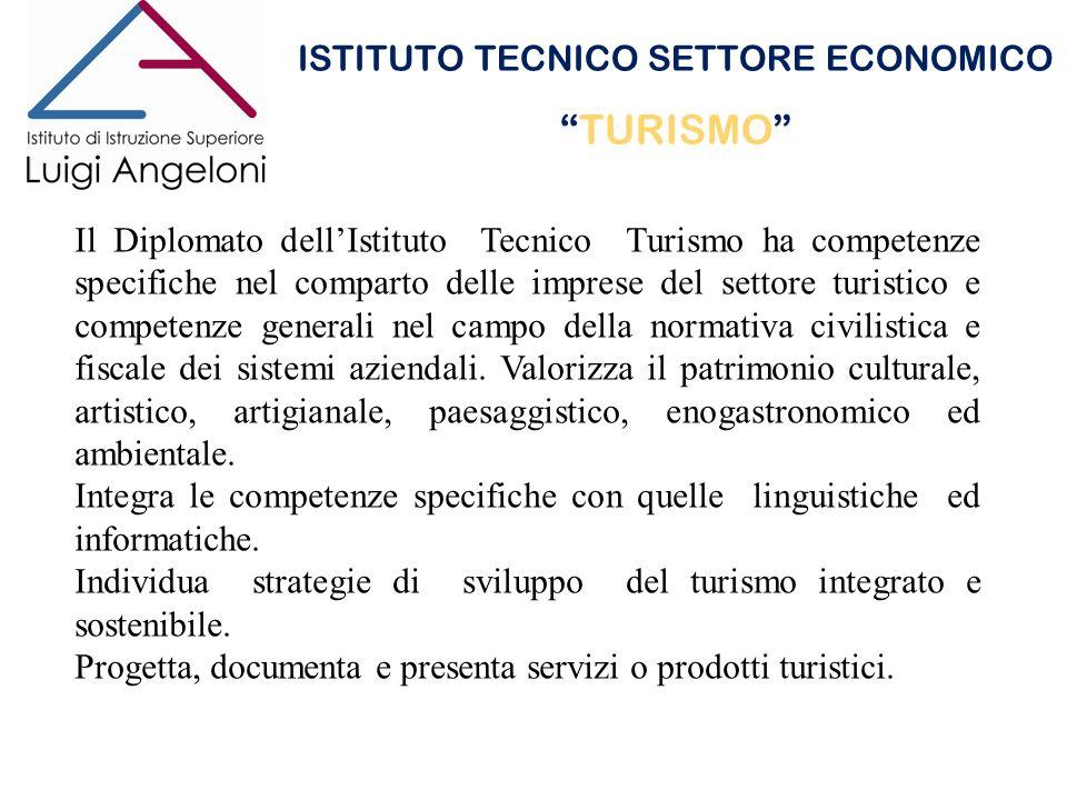 ISTITUTO TECNICO SETTORE ECONOMICO TURISMO Il Diplomato dellIstituto Tecnico Turismo ha competenze specifiche nel comparto delle imprese del settore t