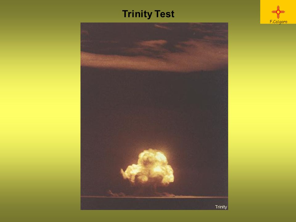 Reazione a Trinity F.Calgaro General Farrell commented to Commander Groves immediately after the Trinity test, The war is over. Yes, Groves replied, just as soon as we drop one or two of these things on Japan. Oppenheimer: I am become death, the destroyer of worlds. (Bhaghavad Gita)