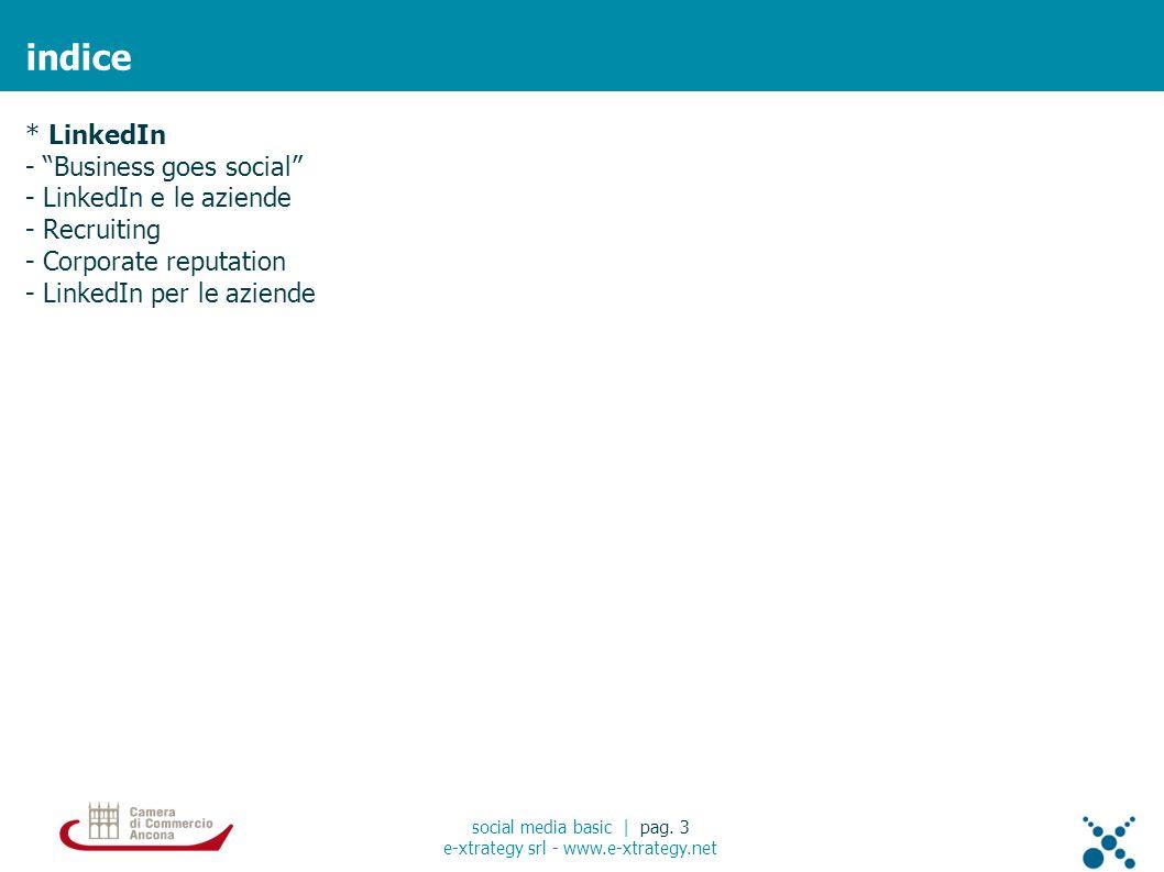 linkedin: social curriculum social media basic | pag.