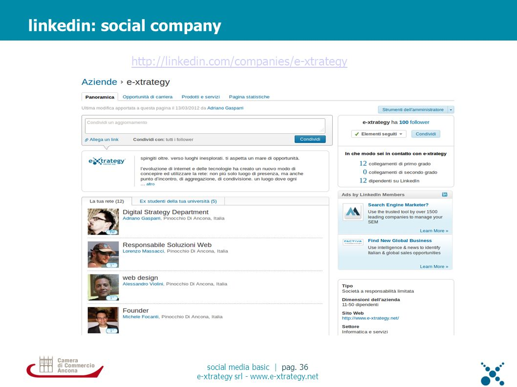 linkedin: social company social media basic | pag.