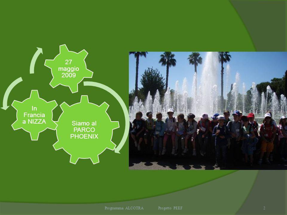 Programma ALCOTRA Progetto PEEF2 Siamo al PARCO PHOENIX In Francia a NIZZA 27 maggio 2009