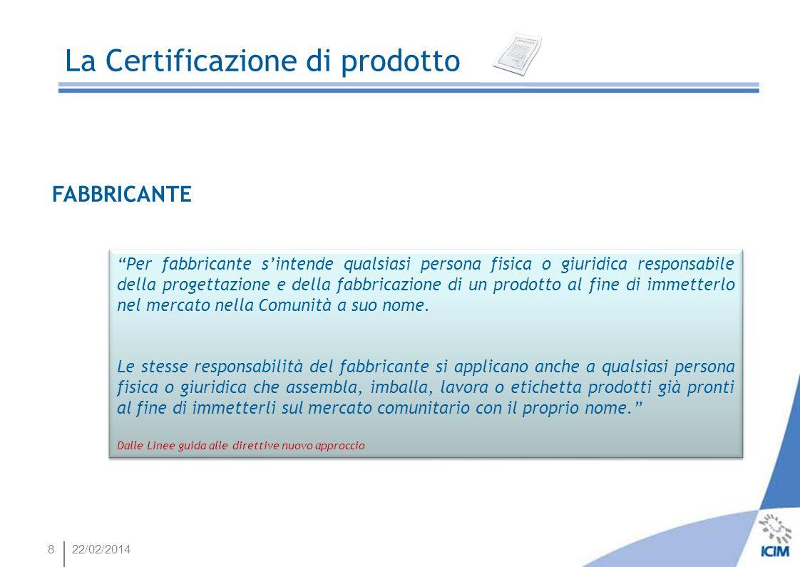 4922/02/2014 La Certificazione di prodotto Quale procedura certificativa scegliere Come scegliere le norme applicabili