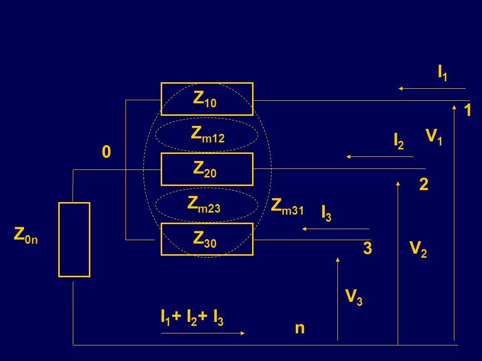 Z 20 Z 30 Z 10 Z m23 Z m31 Z m12 Z 0n 1 2 3 0 n V2V2 V1V1 V3V3 I1I1 I3I3 I2I2 I 1 + I 2 + I 3