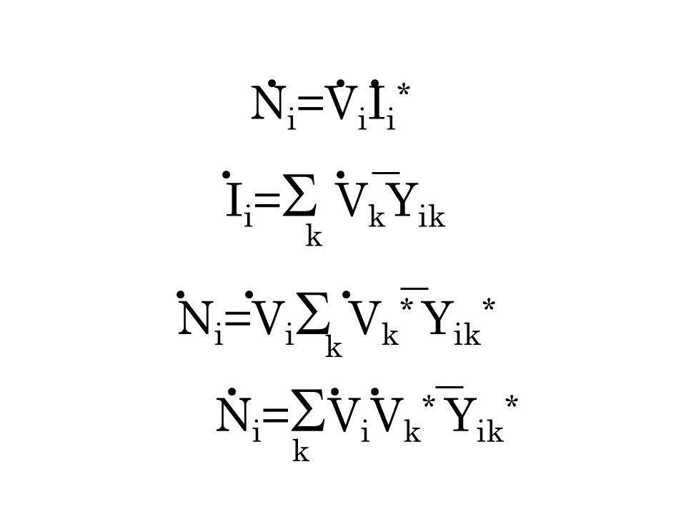 I i = V k Y ik k N i =V i V k * Y ik * k k N i =V i I i *