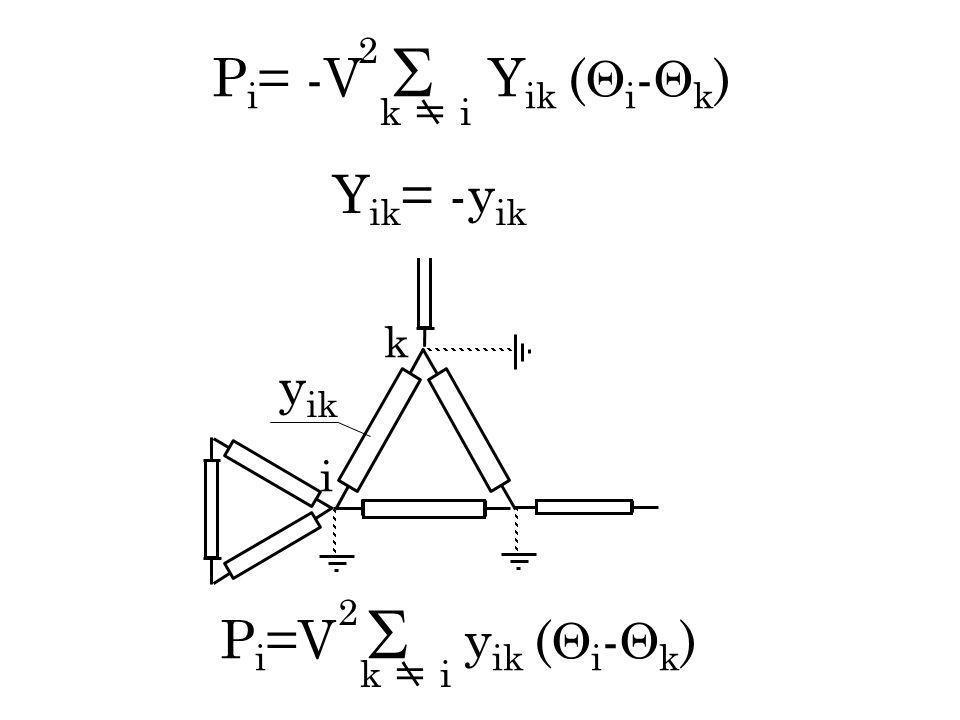 P i = -V Y ik ( i - k ) k i 2 P i =V y ik ( i - k ) k i 2 k i y ik Y ik = -y ik