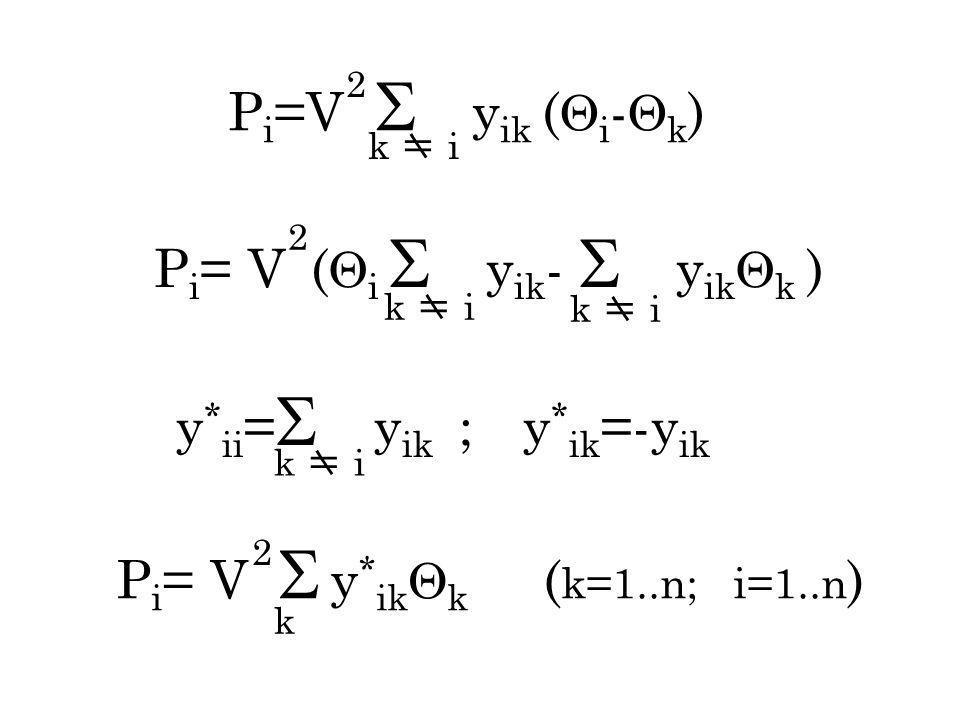 P i =V y ik ( i - k ) k i 2 P i = V ( i y ik - y ik k ) 2 k i y * ii = y ik ; y * ik =-y ik P i = V y * ik k ( k=1..n; i=1..n ) 2 k k i
