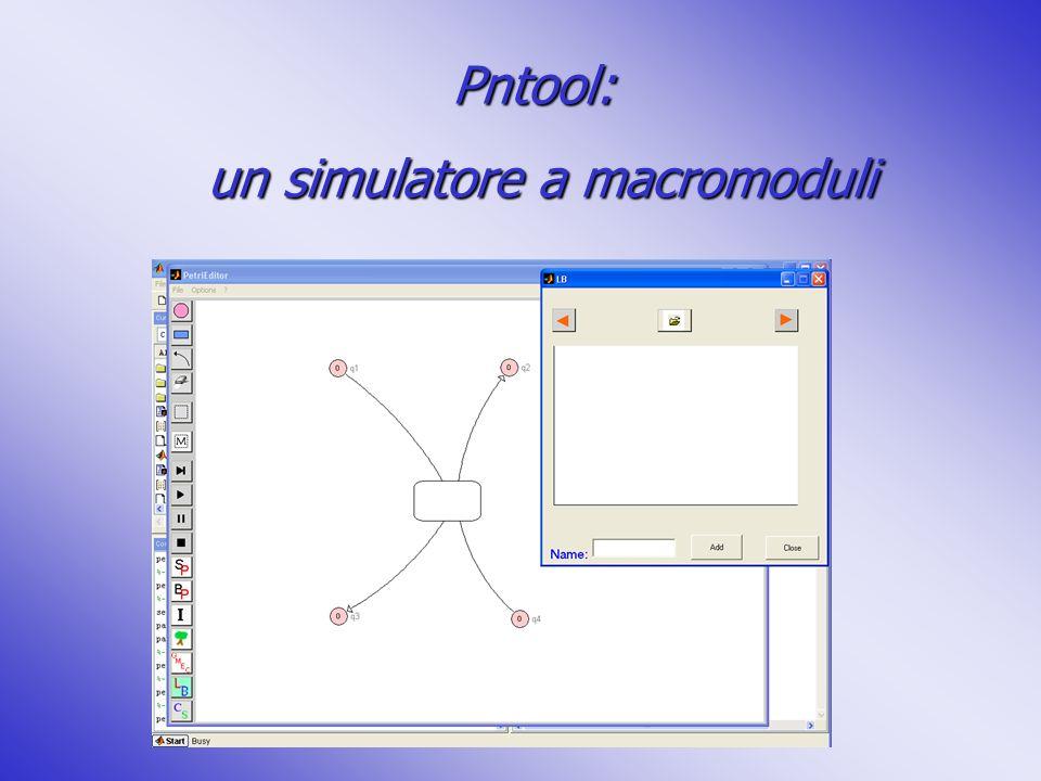 Pntool: un simulatore a macromoduli un simulatore a macromoduli