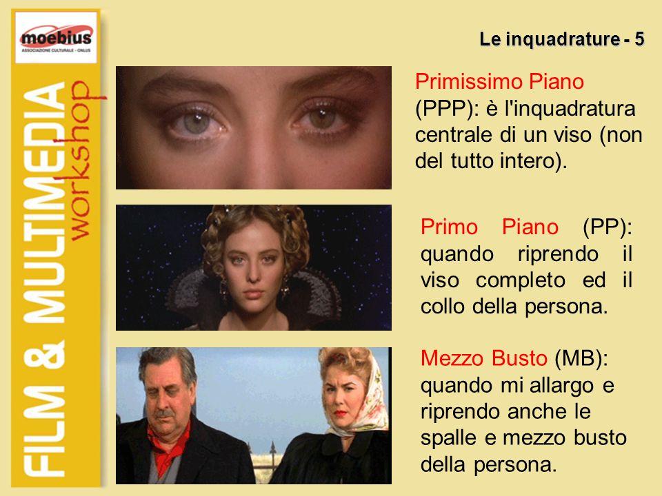 Primissimo Piano (PPP): è l'inquadratura centrale di un viso (non del tutto intero). Le inquadrature - 5 Primo Piano (PP): quando riprendo il viso com