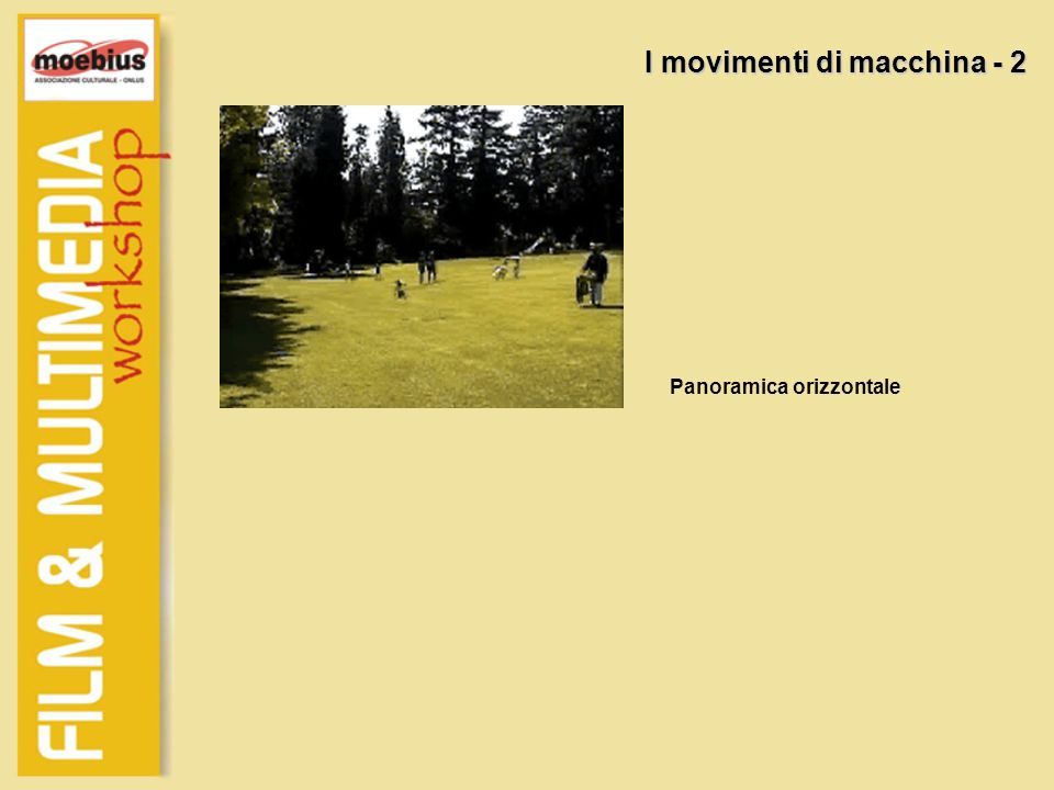 I movimenti di macchina - 2 Panoramica orizzontale