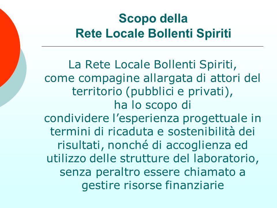 La Rete Locale Bollenti Spiriti, come compagine allargata di attori del territorio (pubblici e privati), ha lo scopo di condividere lesperienza proget