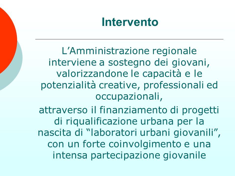 LAmministrazione regionale interviene a sostegno dei giovani, valorizzandone le capacità e le potenzialità creative, professionali ed occupazionali, a