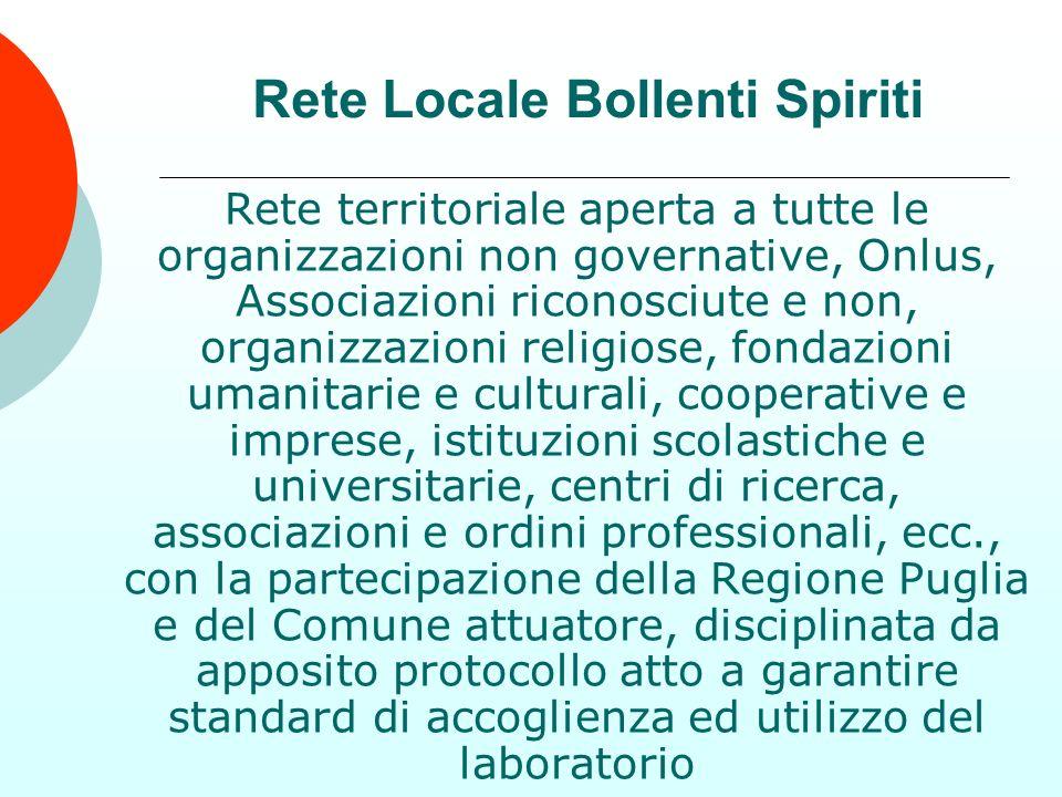 Rete territoriale aperta a tutte le organizzazioni non governative, Onlus, Associazioni riconosciute e non, organizzazioni religiose, fondazioni umani