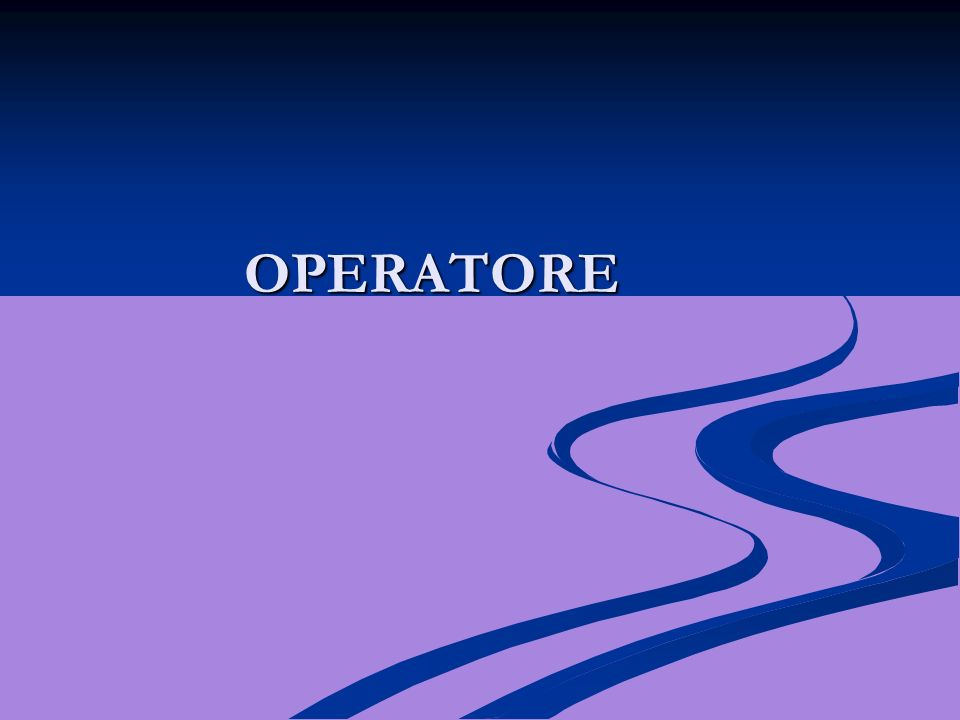 OPERATORE