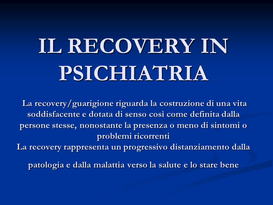 Persona in Recovery Persona in Recovery