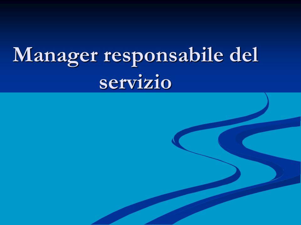 Manager responsabile del servizio