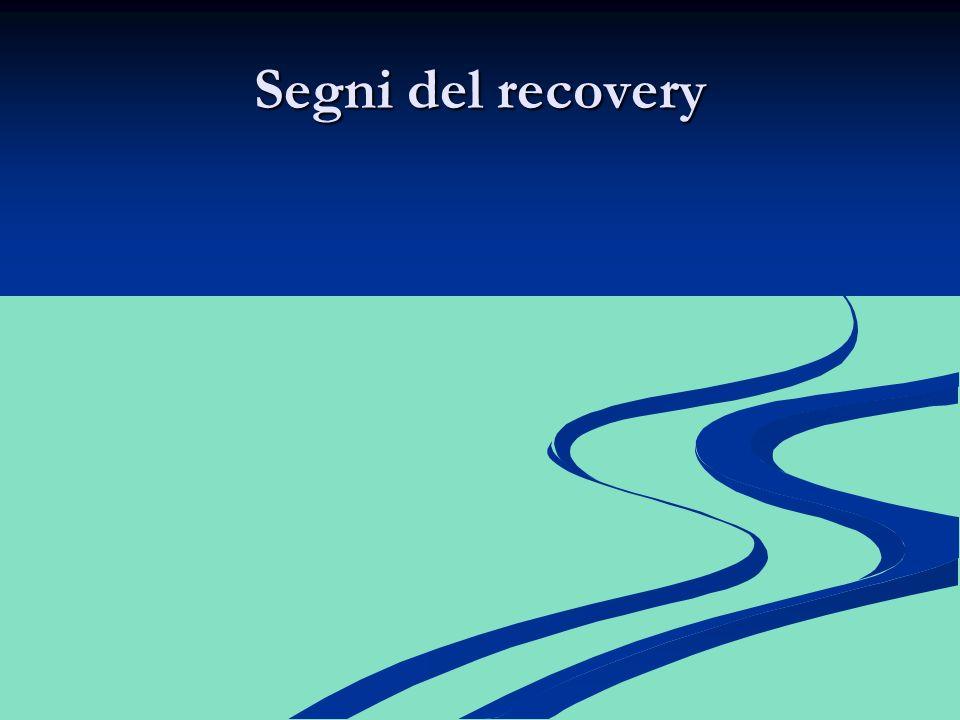 Segni del recovery