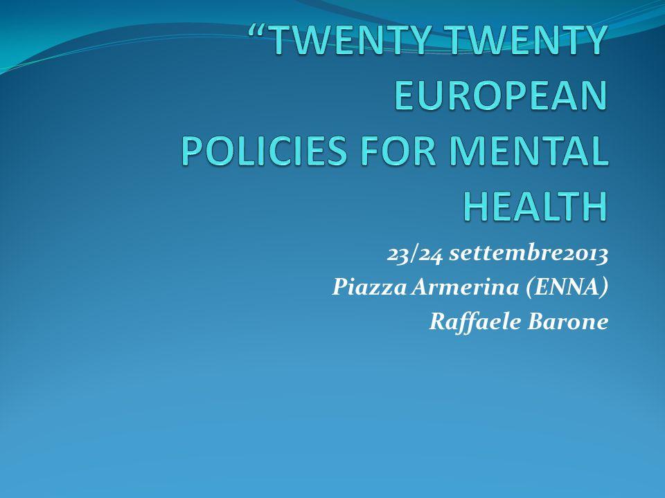 23/24 settembre2013 Piazza Armerina (ENNA) Raffaele Barone