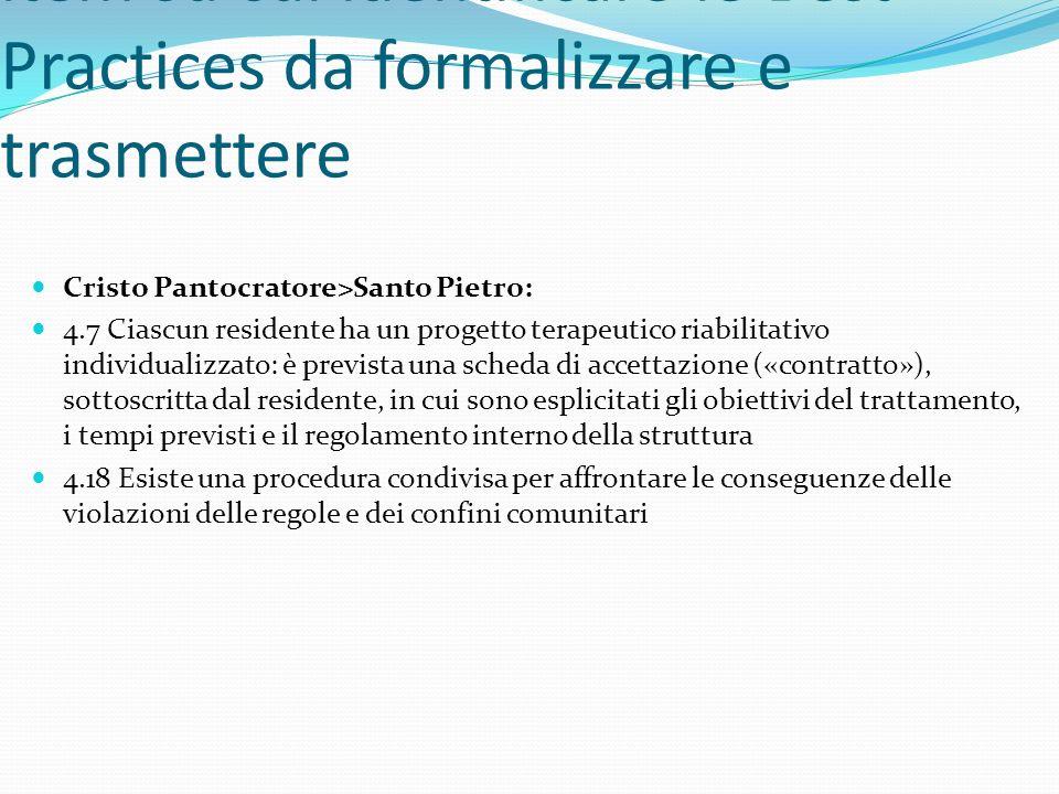 Per la scelta consensuale degli item su cui identificare le Best Practices da formalizzare e trasmettere Cristo Pantocratore>Santo Pietro: 4.7 Ciascun