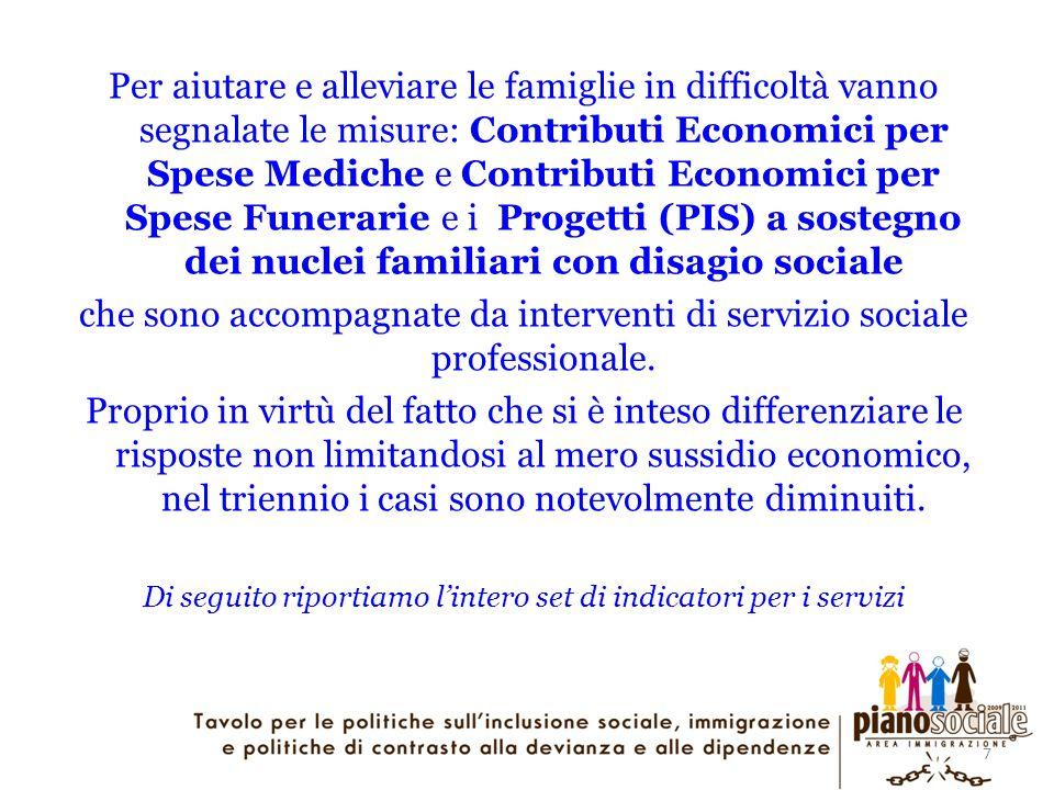 7 Per aiutare e alleviare le famiglie in difficoltà vanno segnalate le misure: Contributi Economici per Spese Mediche e Contributi Economici per Spese