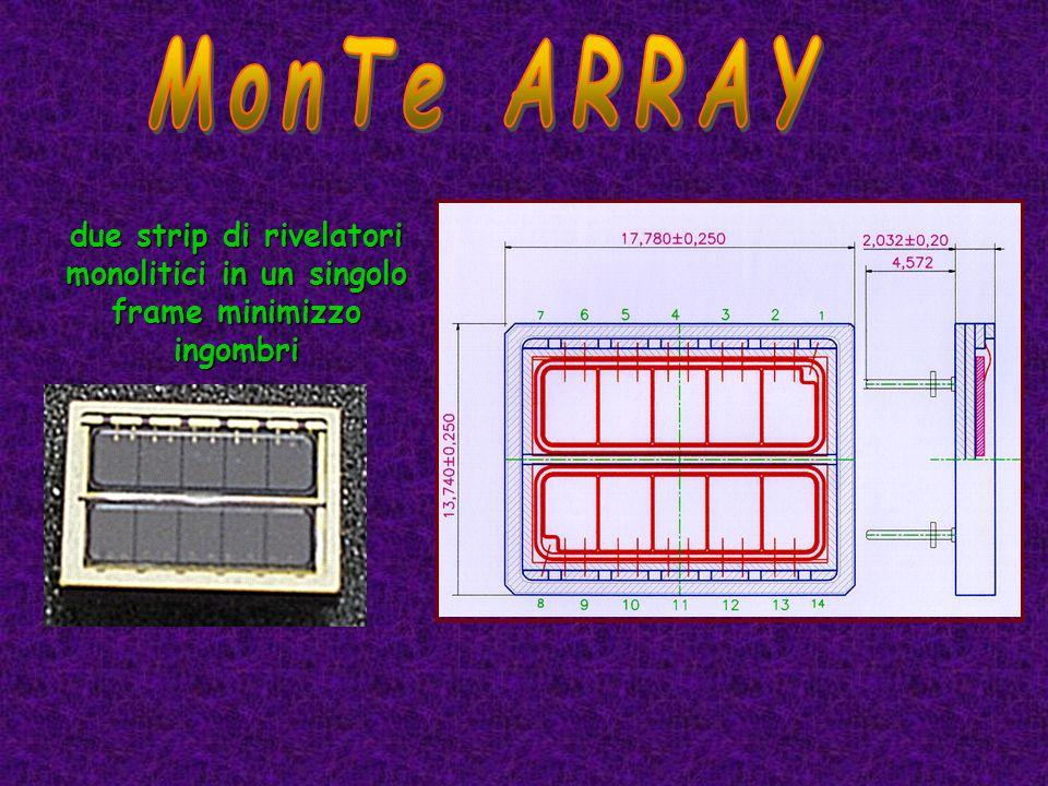 due strip di rivelatori monolitici in un singolo frame minimizzo ingombri